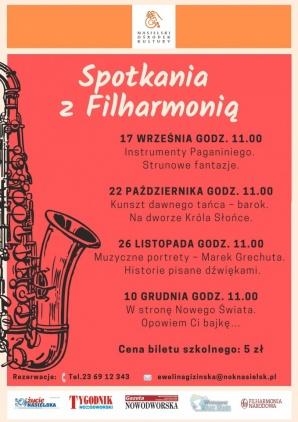 Spotkania z Filharmonią Kliknięcie w obrazek spowoduje wyświetlenie jego powiększenia
