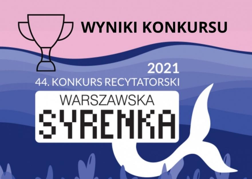 """Wyniki konkursu recytatorskiego """"Warszawska Syrenka"""" Kliknięcie w obrazek spowoduje wyświetlenie jego powiększenia"""